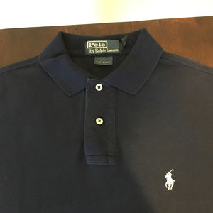Ralph Lauren Polo Navy Blue Custom Fit